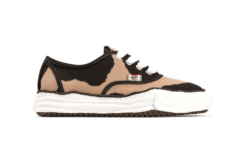 Maison Mihara Yasuhiro Fall/Winter 2020 Sneakers Original Sole Overdyed Lowcut Printed Canvas Footwear Drop Release Information Closer Look