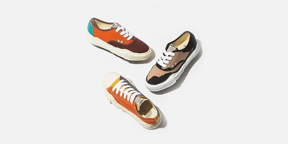 Colorful Overdyed and Printed Canvas Reworks Maison Mihara Yasuhiro's OG Sole Sneaker