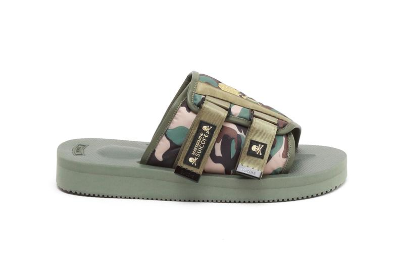 "mastermind JAPAN x Suicoke KAW Sandals ""Olive"" ""Beige"" Camouflage Print Slide Collaboration Release Information Japanese Footwear Drop Date Closer Look"