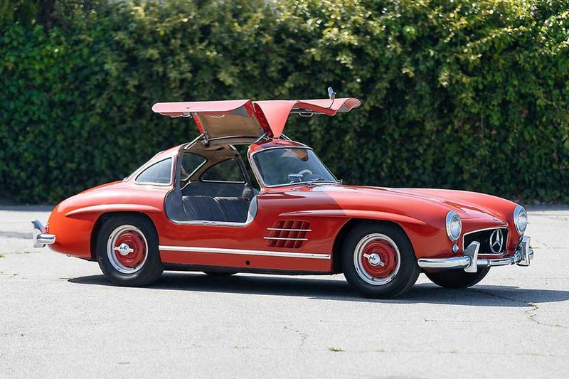 gooding company vintage cars sales auction 1955 mercedes benz 300 sl gullwing fire engine red