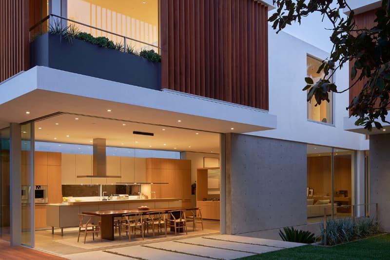 Montalba Architects Family Home Design David Montalba Santa Monica California courtyard landscaped balconies three story plants wood minimalism