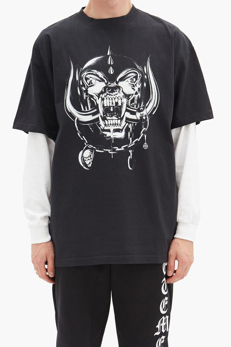 Motörhead x Vetements T-Shirt & Shorts Release Information Closer Look Drop Guram Gvasalia Black 2010 World Tour Heavy Metal Band Tee Album Cover Artwork 'The Wörld Is Yours'