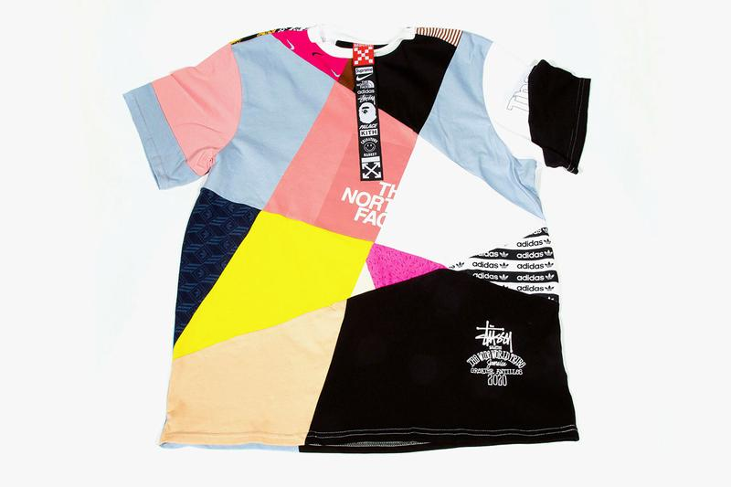 MSCHF X $1010.10 USD Patchwork Collab T-Shirts impossible bape stussy the north face adidas nike kith chinatown market palace off white supreme release date info buy july 13 2020