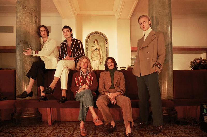 Mytheresa x Gucci Menswear Capsule Collection House's Pre-Fall 2020 Season Ready-to-Wear Accessories Footwear Alessandro Michele Release Information GG Motif '70s Australian Band Parcels Lookbook