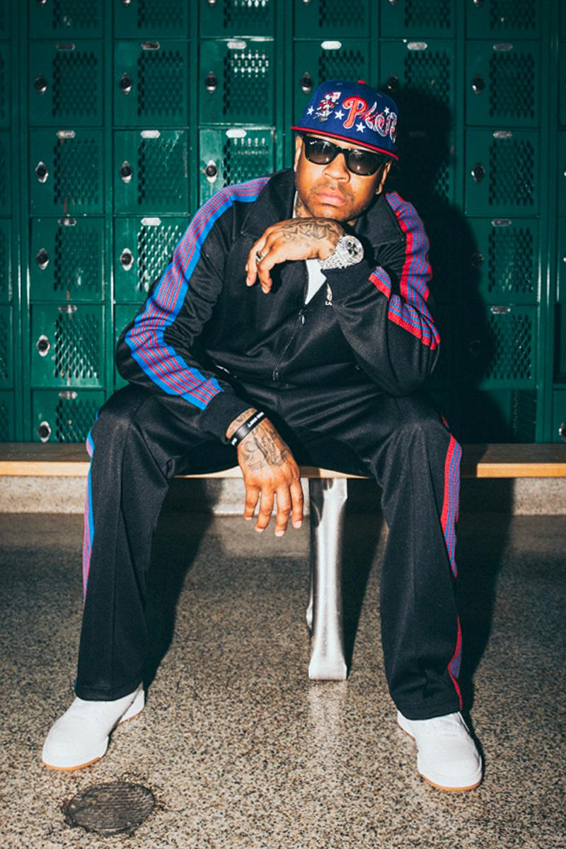 NBA 76ers Lapstone and Hammer NEEDLES Tracksuit track jacket track pants butterflu nepenthes basketball allen iverson philadelphia black red blue