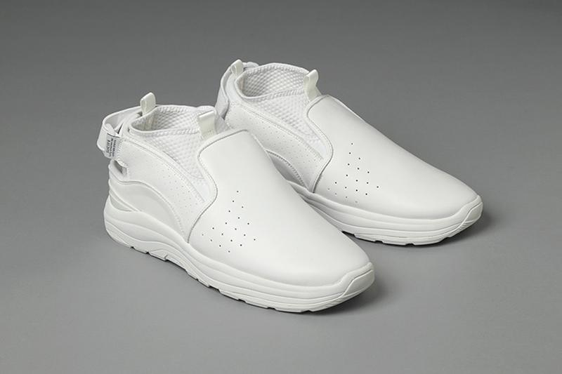 """Nepenthes Suicoke """"RAC"""" menswear streetwear spring summer 2020 collection footwear shoes kicks sneakers trainers runners snake white"""