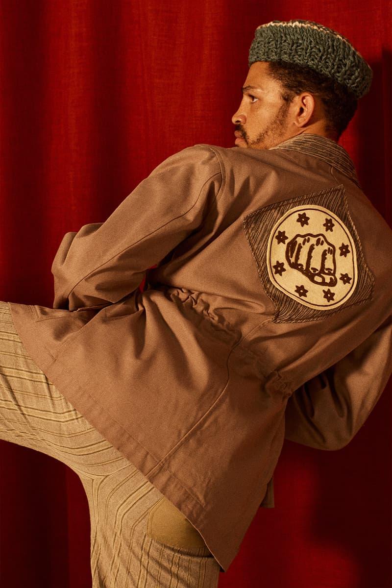Nicholas daley ss21 menswear stepping razors reggae culture martial arts jazz music British tailoring