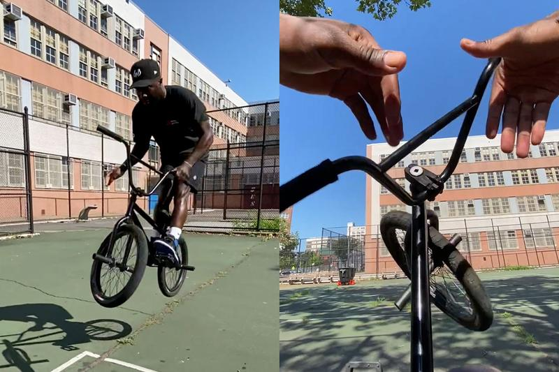 How to Do a Barspin w/ Nigel Sylvester Video Pro BMX Biker Trick Bunny Hop