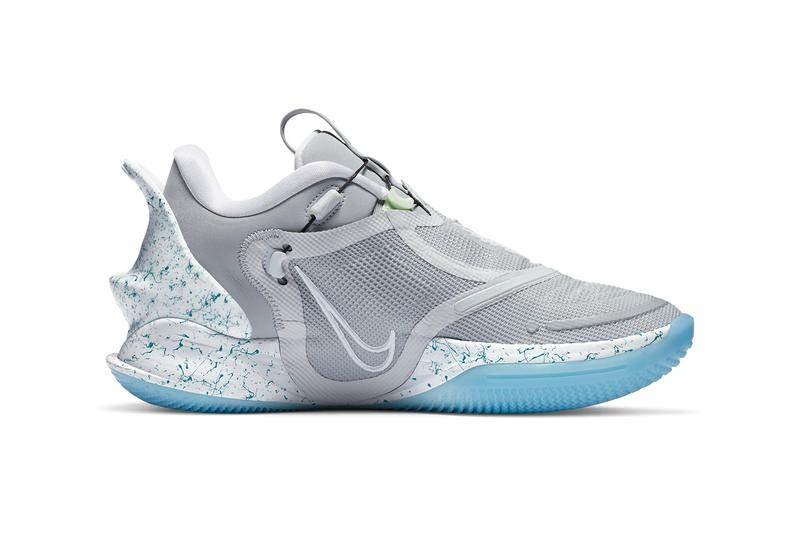 nike basketball adapt bb 2 0 mag grey white blue bq5397 003 official release date info photos price store list buying guide