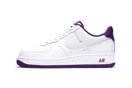 "Nike Electrifies the Air Force 1 '07 With Hits of ""Voltage Purple"""