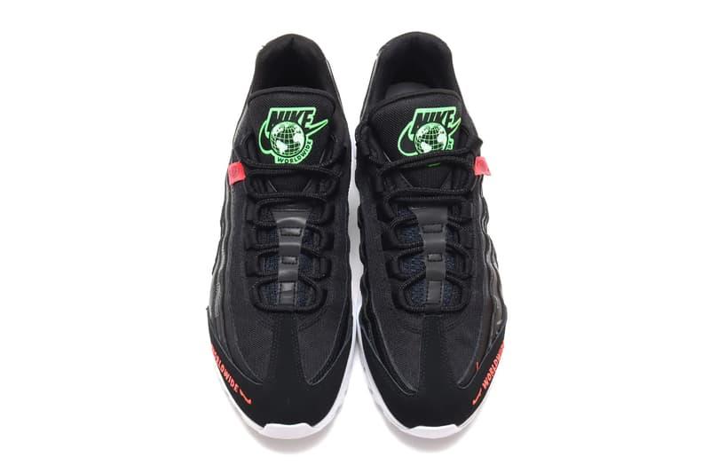 Nike Air Force 1 Black Green Strike flash crimson menswear streetwear spring summer 2020 collection ss20 kicks sneakers trainers runners air max 95 cq9743 001 ck7213 001