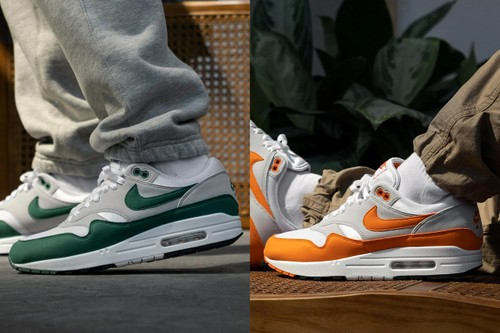 """Nike Air Max 1 Is Back in """"Hunter Green"""" and """"Anniversary Orange"""""""