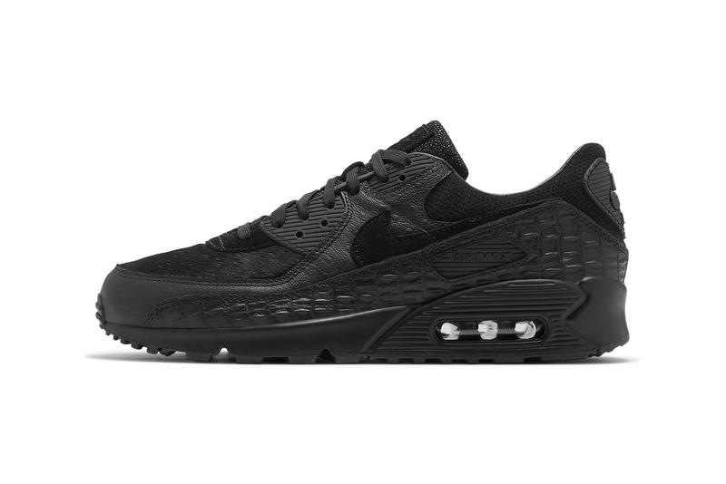 nike sportswear air max 90 infrared blend black crocodile ostrich pony hair stingray official release date info photos price store list buying guide