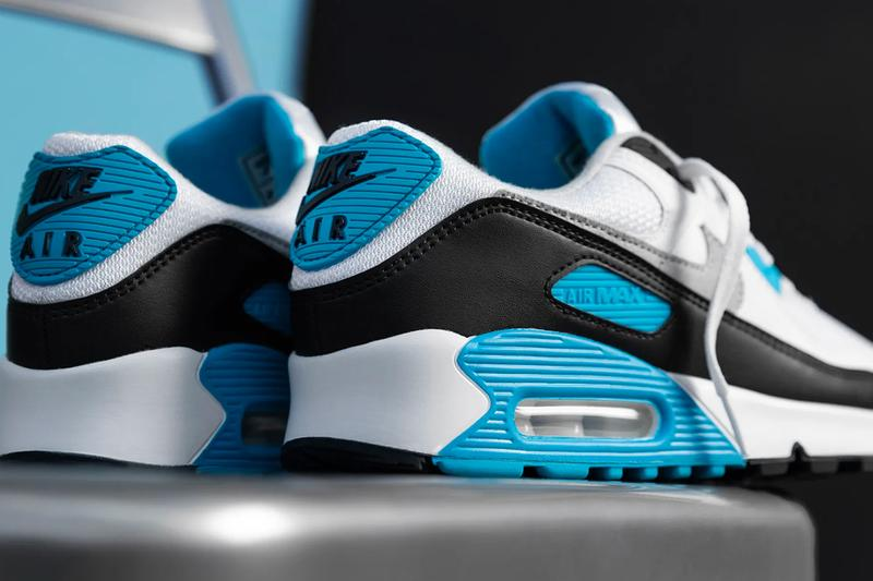 Nike Air Max 90 OG Laser Blue vintage retro unc colorway spring summer 2020 collection ss20 kicks sneakers footwear shoes trainers runners CJ6779 100