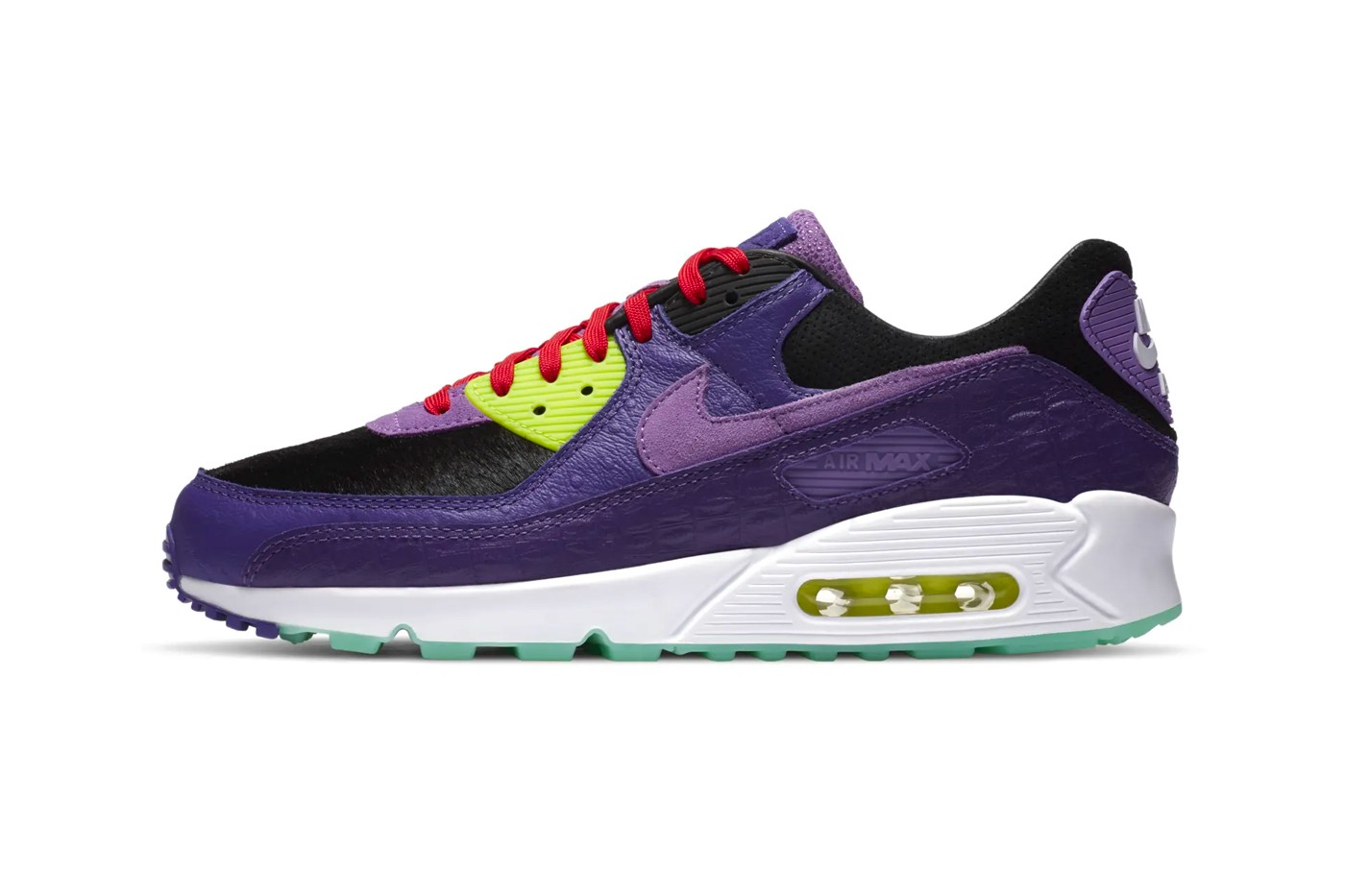 nike air max 90 purple and teal