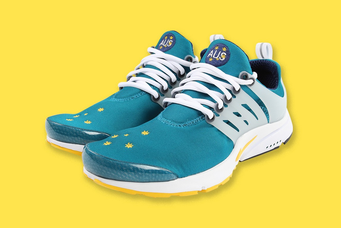 "Air Presto ""AUS"" が2000年以来となるカムバックを果たす nike air presto aus australia fresh water midnight navy varsity maize 20th anniversary supply store official release date info photos price store list buying guide"