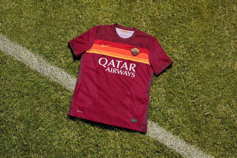 nike as roma giallorosso rome football soccer team home jersey kit 2020 2021 season italy serie A