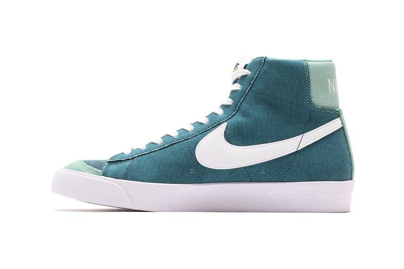Nike Blazer Mid 77 Vintage Suede Healing Jade Green Ash white cz4609 300 menswear streetwear spring summer 2020 collection ss20