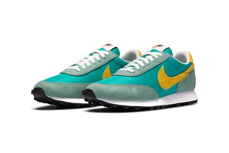"Nike Daybreak ""Neptune"" ""Limelight"" Release Information Nexkin Fabric Materials OG Running Sneaker Footwear Swoosh Blue Yellow Black Green"