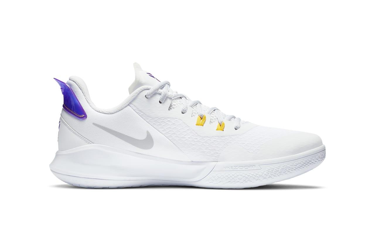 kobe shoes purple and white