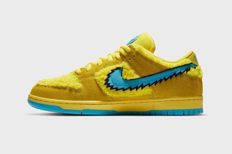 Nike SB Dunk Low Grateful Dead Official Release Info Green Yellow Bear cj5378-700 cj5378-300 cj5378-800 Opti Yellow Blue Fury Green Spark Soar