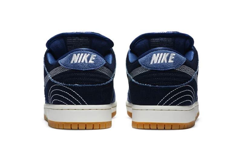 Nike SB Dunk Low Pro Prm Sashiko Full Look cv0316-40 Release Info Date Buy Price Cool Mystic Navy Gum Light Brown stitching denim blue
