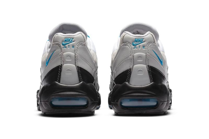 "Nike Air Max 95 ""Laser Blue"" Gray Fog White Black CZ8684 001 menswear streetwear spring summer 2020 collection ss20 footwear shoes sneakers kicks trainers runners"