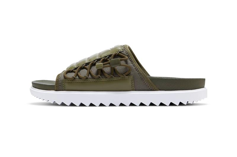 Nike Asuna Slide Khaki Olive WHITE vSJvXF CI8800 300 Release menswear streetwear spring summer 2020 collection sandals