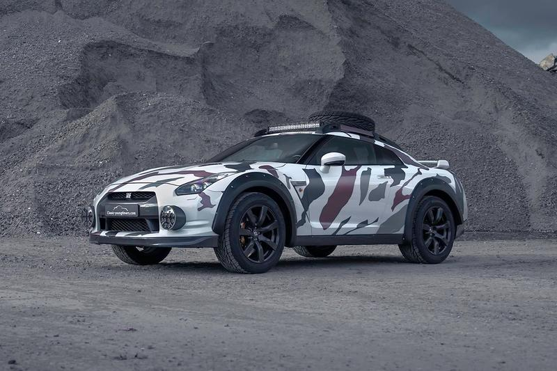 "Nissan GT-R Offroad ""Godzilla 2.0"" Classic Youngtimers Consultancy 4x4 R35 Skyline 4WD 600 HP Camouflage Wrap Ground Clearance Rally Mode"
