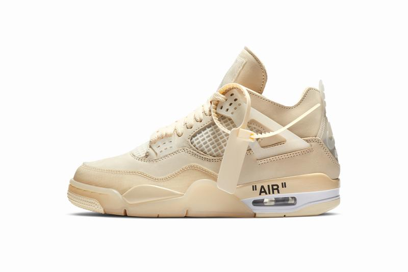 Off White Air Jordan 4 Sail Official Images Release Date Jumpman Virgil Abloh Collab Collaboration Nike HYPEBEAST Kicks Preview Upcoming Sneakers Best Releases 2020 Limited