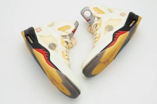 "Detailed Look at the Off-White™ x Air Jordan 5 ""Sail"""