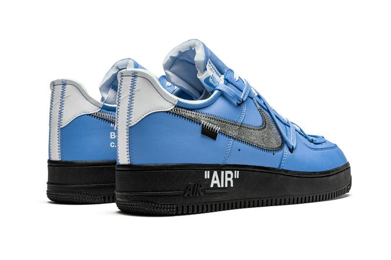 off white nike air force 1 mca sample stadium goods university blue black white virgil abloh louis vuitton official release date info photos price store list buying guide