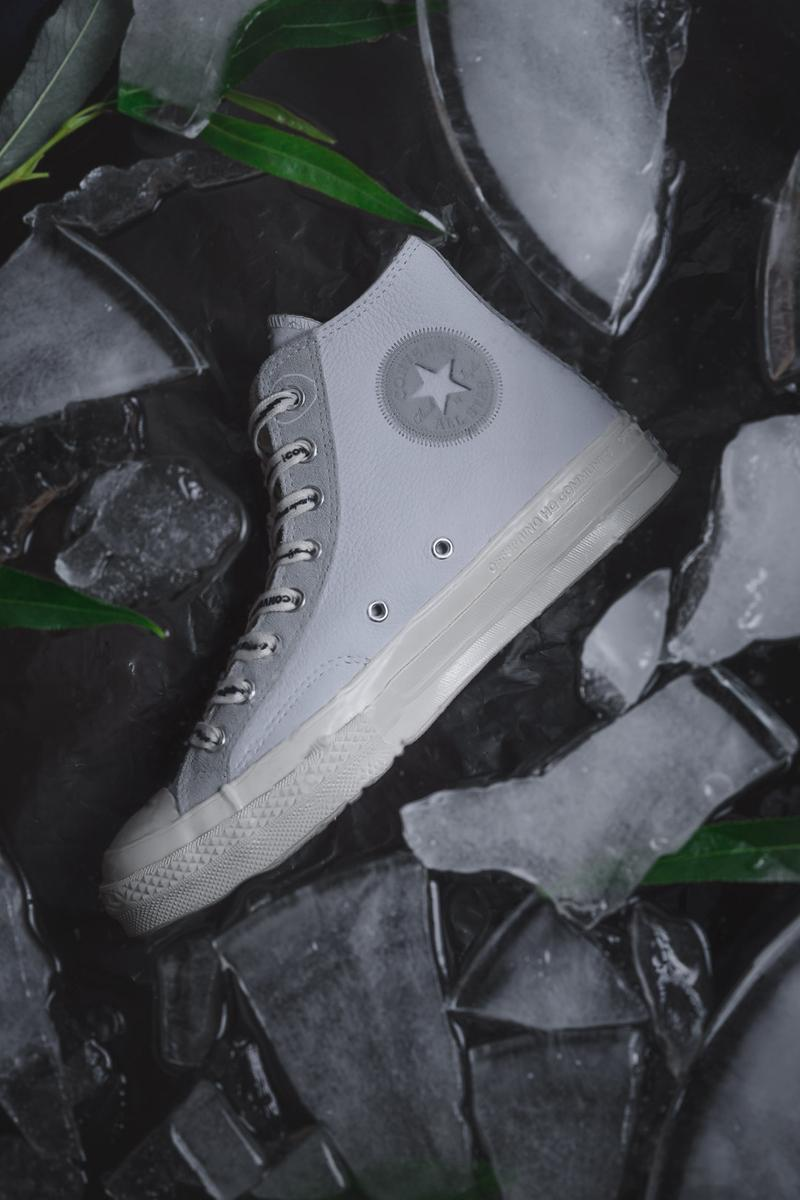 "Offspring x Converse ""Community Chuck 70s"" PArt II Pack High Top Low Sneaker Release Information United Kingdom UK Store Limited Edition Collaboration Grey Muted Leather Nubuck All Star Lightning Bolt"