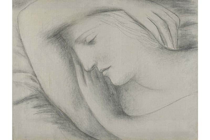 Pablo Picasso Portrait of Lover Sotheby's London Auction 'Femme endormie' Marie-Thérèse Walter charcoal drawing