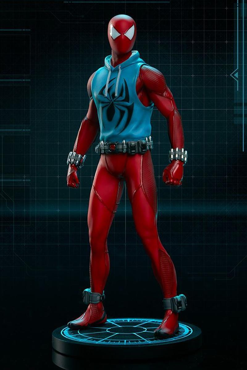 pcs collectibles sideshow marvels spider man scarlet outfit skin costume figure toy collectible