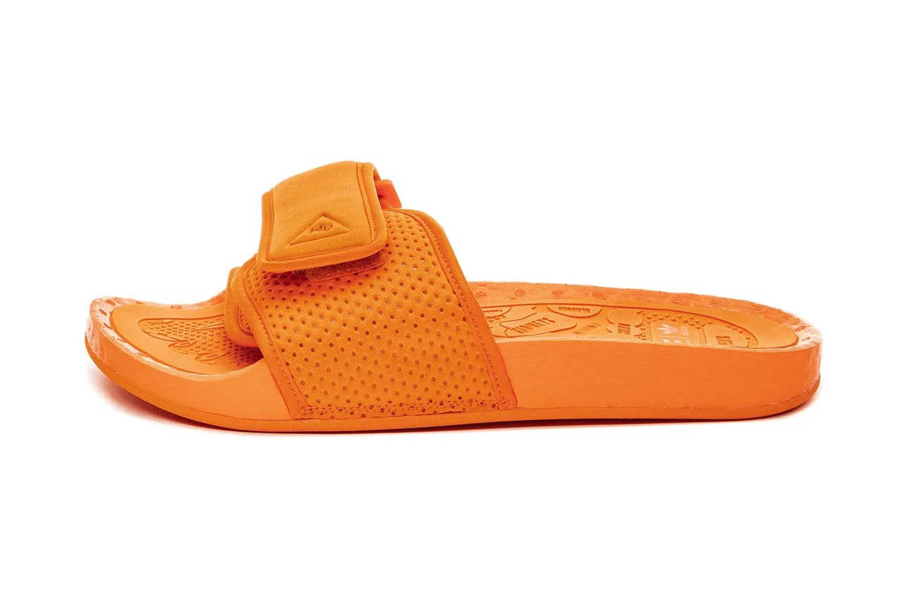 pharrell adidas originals boost slides core black orange pink fx8056 fv7261 fv7289 official release date info photos price store list buying guide