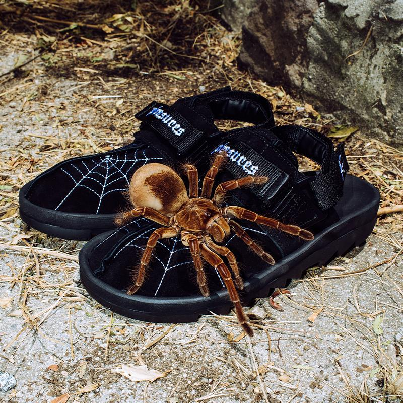 pleasures reebok alex james beatnik sandal release information black suede spider web details buy cop purchase Goodhood