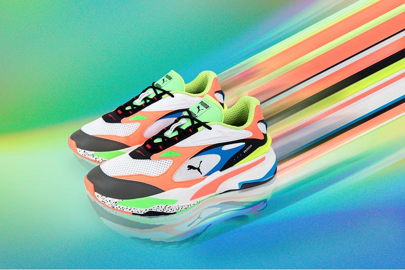 puma rs-fast running system black orange green pink red release information buy cop purchase sneakers trainers details