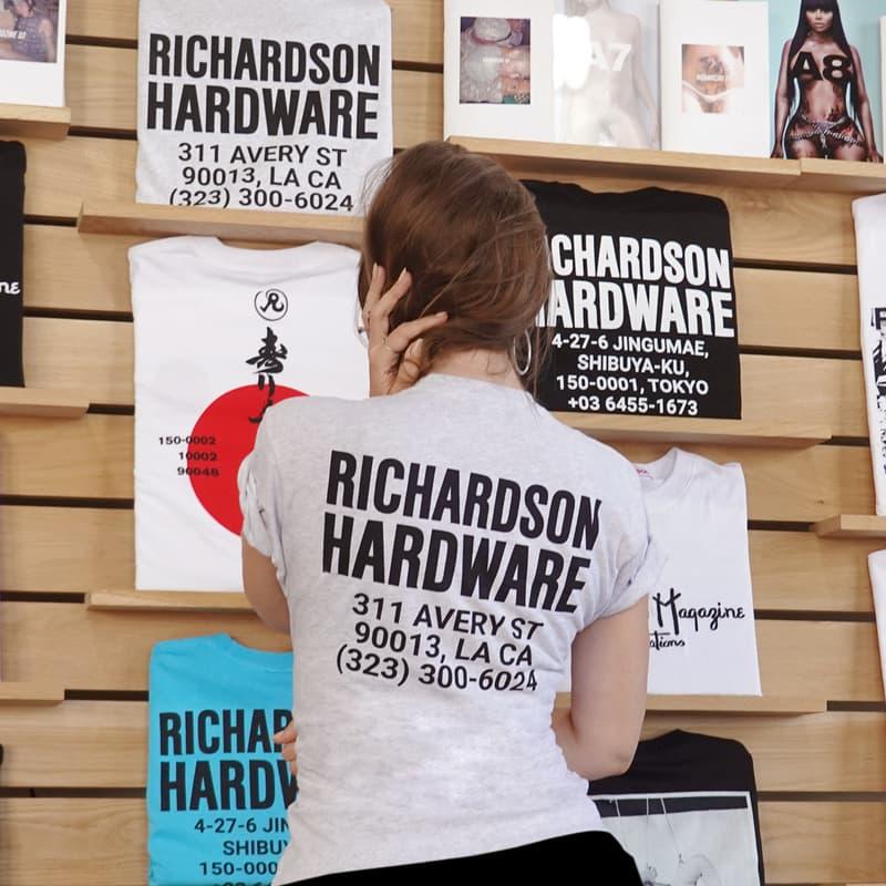 Richardson Downtown Los Angeles New Shop Location Hardware tee Julia Fox Uncut Gems
