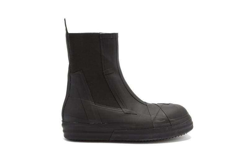 Rick Owens bozo Chelsea rubber boot matches fashion black