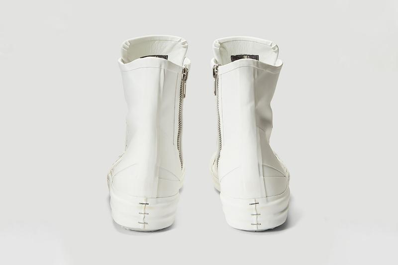 Rick Owens Rubberized Sneakers White menswear streetwear spring summer 2020 collection ss20 footwear shoes kicks trainers boots designer