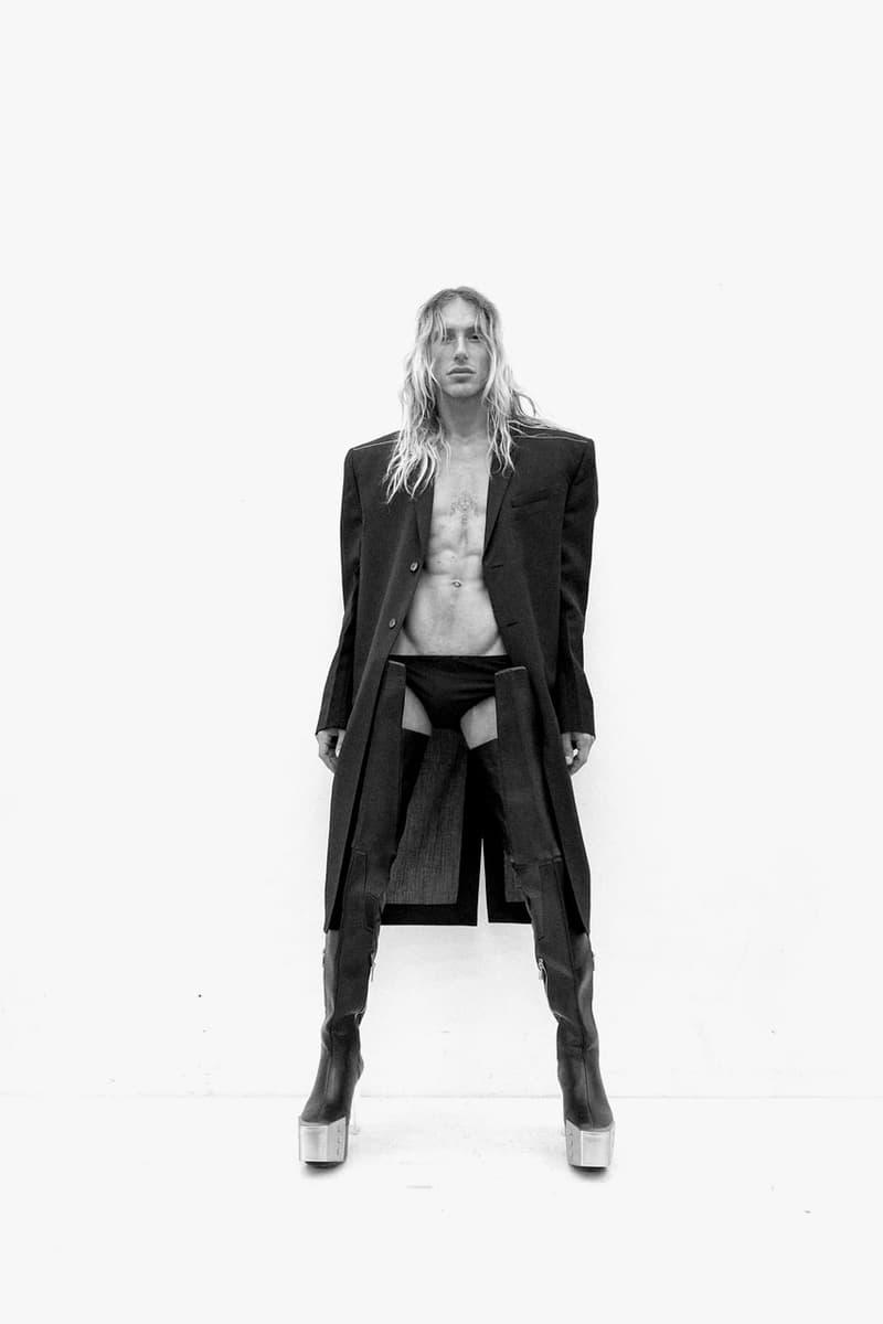 "Rick Owens Spring/Summer 2021 Collection ""PHLEGETHON"" lookbook menswear ss21 paris fashion week pfw"