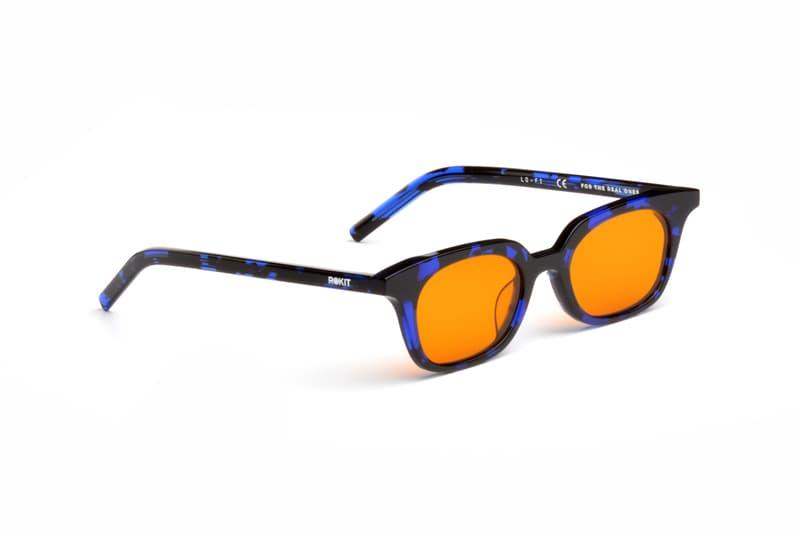 ROKIT AKILA Lo-Fi A 2003 Sunglasses Release Green Tortoise Acetate Apple Green Lenses Blue Amber Release Info Date Buy Price