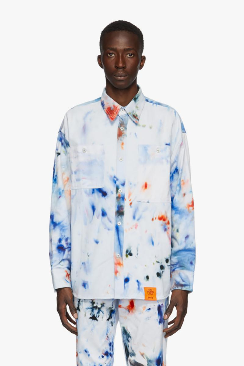 ssense sterling ruby s.r. studio la ca los angeles california artist white paint splatter apparel tote shirt pants
