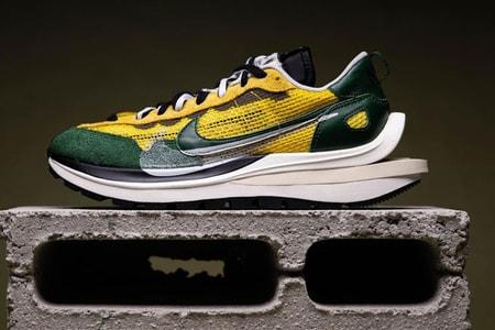 """First Look at sacai and Nike's VaporWaffle """"Tour Yellow"""""""