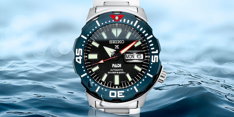 """Seiko Crafts a PADI Special Edition of Its Hefty """"Monster"""" Diver"""