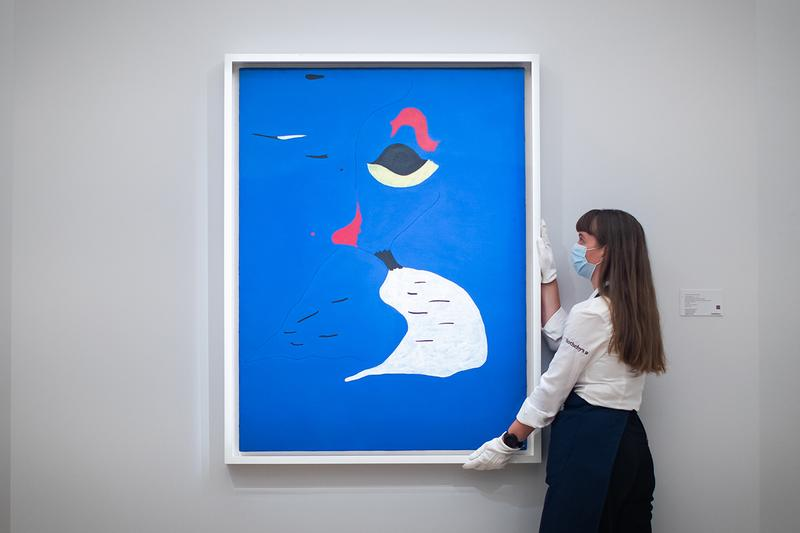 Sotheby's Christies Miro Banksy KAWs auction