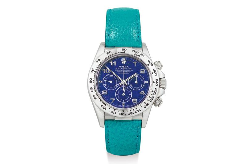 Sotheby's Lapis Lazuli Rolex Daytona Auction  watches millions rare Rolex Cosmograph swiss watches timepiece hong kong