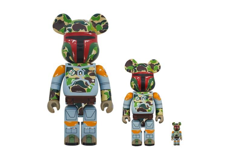 BAPE Medicom Toy Star Wars Boba Fett BEARBRICK VCD Figures hypebeast disney toys collectibles movie cinema mandalorian clone wars