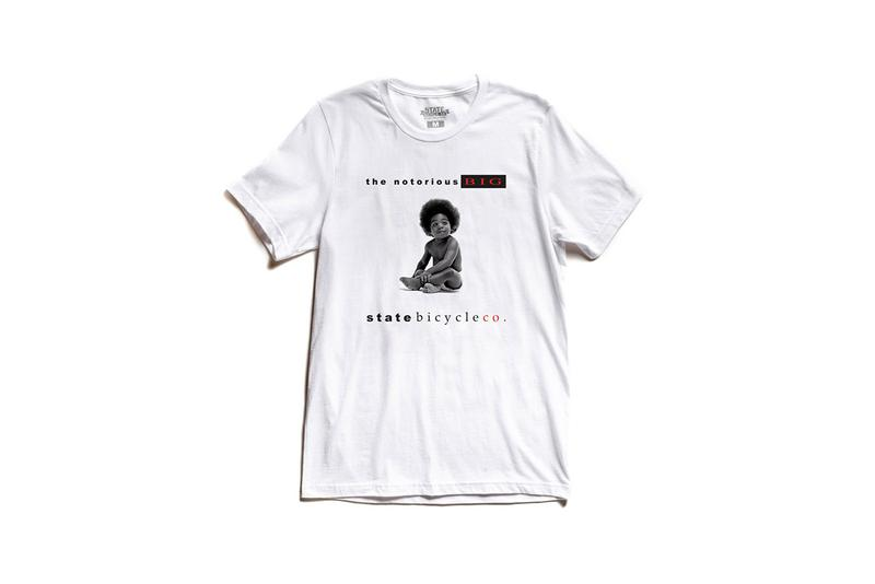 """State Bicycle Co. """"The Notorious B.I.G"""" Collection fixed gear/single speed cycling pedal 'Ready To Die' Album Clothing Collection Outfits Tape Brooklyn Hats Tees T-Shirt"""